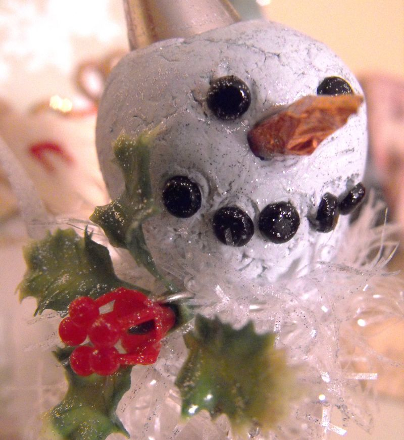 Close up of snowguy