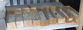 Boxes of bolts