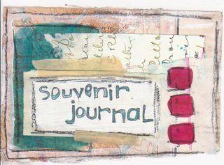 Souvenir journal postcard