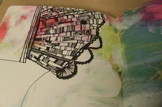 Art doodle love page